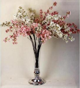 نمط جديد 39 بوصة الزهور الاصطناعية فروع رومانسية من زهر الخوخ الكرز الحرير الزهور الرئيسية الزفاف الديكور زهرة شحن مجاني