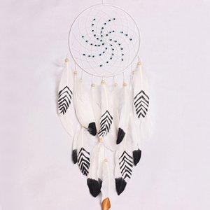 Kreative Feather Dream Catcher mit bunten Perlen für Wandbehang Home Decor Feng Shui Dekorieren Dreamcatcher