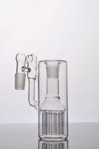 imagen real receptor Solo vidrio fritado con 12 Ash brazo en línea del árbol del brazo PERC ángulo de 18 mm articulaciones adecuado para bongs de vidrio