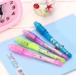الجملة المهنية الأشعة فوق البنفسجية القلم مع ضوء بنفسجي / حبر القلم غير مرئية / القلم الخفي / 100٪ الشحن مجانا / تسليم سريع بواسطة dhl