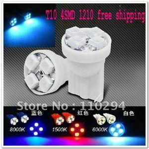 الجملة 300pcs T10 4 مصلحة الارصاد الجوية 1210 3528 4 أضواء LED الداخلية عرض مصباح سيارة المصابيح 4smd
