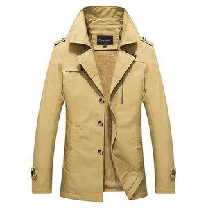 Anbican Fashion Chaqueta de invierno para hombre 2016 Nuevo abrigo Parka negro para hombres Chaqueta cortavientos Chaqueta informal Parkas gruesas y cálidas 4XL 5XL