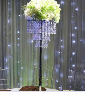 H70cm Crystal like Beaded Chandelier- Wedding Centerpieces