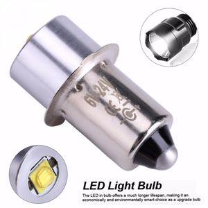 Bombillas de repuesto Bombilla LED Upgrade 3W 18V P13.5S PR2 LED Base para la antorcha luces células linterna trabajo ligero C + D