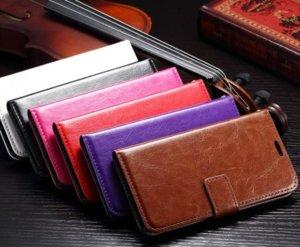 Crazy Horse Mad Oil carteira de couro bolsa para Galaxy S7 / S7 Borda / S7 Plus / S6 SVI G920 / Frame Stand Case Holster capa de pele