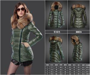 Франция высокое качество 2018 Женщины зима вниз пальто Monclar длинные женщины куртка женщины верхняя одежда пальто Женские пуховики