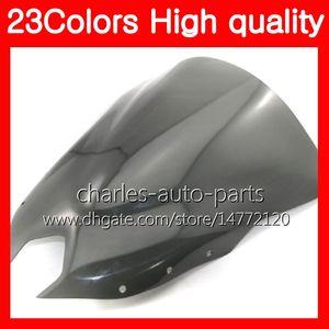 Parabrisas 100% nuevo para YAMAHA FZ6 FZ6R 09 10 11 12 13 FZ 6R FZ-6R 2009 2010 2011 2012 2013 Chrome Negro humo claro parabrisas