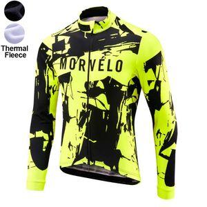 2021 Morvelo Pro Team Winter Fleece Fleece Cycling Antivento Vento Viaio termale MTB Cappotto in bicicletta Mens Giacca riscaldamento