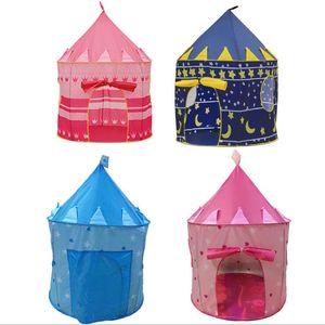 Tentes de jeu pour enfants Prince et Princesse Party Tent Enfants tente intérieure extérieure Game House 4 couleurs pour choisir
