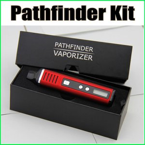 2016 Pathfinder II Kiti Kuru Ot Buharlaştırıcı Kiti Pathfinder Buharlaştırıcı 2200 mah LED Ekran Siyah Kırmızı Mevcut