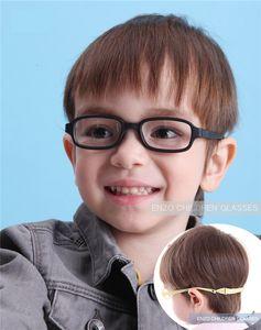Boy lunettes Cadre avec sangle Taille 43/16 une seule pièce Pas de vis Safe, Lunettes optiques enfants, Bendable filles Lunettes flexible