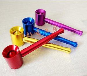 Фристайл портативный металлическая труба в нижней части мундштука может вращаться из алюминиевой сетки бесплатно небольшие трубы табака стебли, цвет случайный гастроном