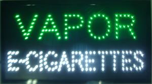 La vente chaude personnalisée des enseignes au néon a conduit la vapeur au néon e-cigarettes signe des slogans accrocheurs conseil