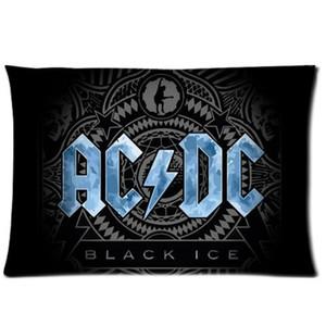 Funda de almohada Cool Pillowcase Music Band Acdc Style (lados dobles) (20x30 pulgadas)