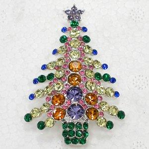 Cadeaux Bijoux Christmas Cristal Tree Belle broche Broche Broche de Noël Strassale QCMWO