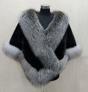 Inverno nupcial Faux Fur Wraps Quente xales Casacos Shrug Preto Gary Burgundy azul de prata para a noiva dama de honra Jacket Prom Cocktail