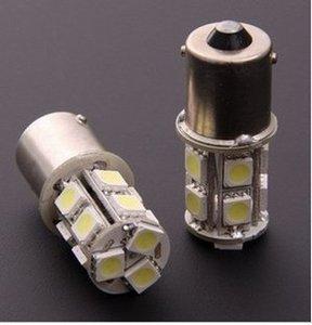 50 шт./лот 1156/1157 BA15S P21W 13 SMD 5050 13 LED 13led 13smd тормоз хвост сигнал поворота лампа белый авто светодиодные лампы автомобиля 12 В
