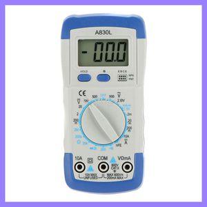 Originale Mastech A830L Mini DMM Multimetro Digitale Amperometro Voltmetro Ohmmetro hFE Tester w / LCD Retroilluminazione Amperometro Multitester Megaohmmetro