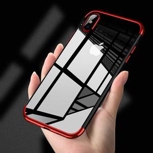 Telefone original case para iphone x luxo moda transparente tpu macio banhado a volta do telefone móvel shell para iphone x case
