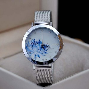 2015 Casual Quartz Watches Women Fashion Luxury Watch Business Blue And White Porcelain Watch