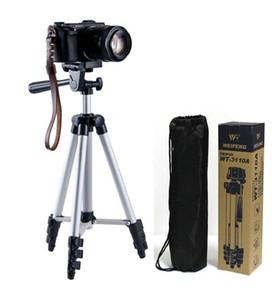 WT-3110A Cámara de teléfono liviana portátil de la cámara del trípode del trípode con la bolsa de transporte para Canon Nikon Sony DSLR cámara DV de alta calidad