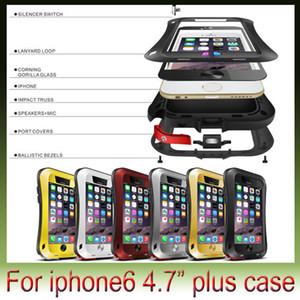"""iPhone6 아이폰 6 플러스 4.7 5.5 """"5 초 LOVE MEI 수비수 작은 허리 커버 강력한 충격 방지 방수 금속 갑옷 전화 케이스에 대한"""