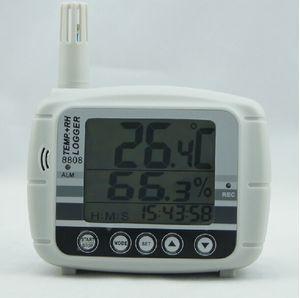 Температура Влажность Точка росы метр тестер Data Logger 16K USB Память 8808