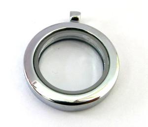 1 قطعة JK16 30 ملليمتر عادي جولة قلادة المعيشة الزجاج العائم الذاكرة العائمة المدلاة الشحن المجاني