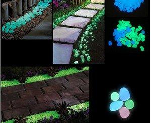 Decoraciones de jardín 100 piezas que brillan en la oscuridad Piedras Guijarros Roca para acuario Pecera Decoración de jardín
