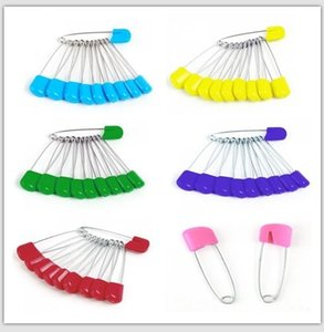 Wholesale 600pcs lot Baby Safety Pin Child Safe Cloth Nappy Diaper Craft Pin Locking Tools Colorful d790