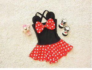 2020 New Arrival Girls Bikini Children Fashion Dot Swimwear with Bow Fashion Cute Kids Swimwear Wholesale Price