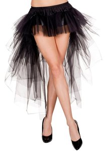 2015 Super Sexy faldas corsé alta baja Sheerat Tulle chicas tamaño libre por encargo faldas cortas para mujeres mujeres ropa