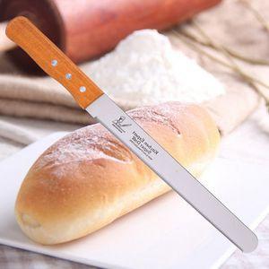 Toptan-Yeni Paslanmaz Çelik Ekmek Bıçakları 10/12 inç tırtıklı bıçak ve pasta pişirme pasta kesici aracı K0441