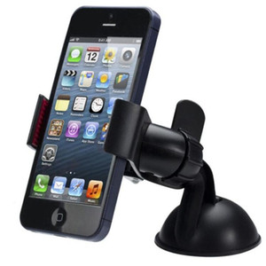 Top sale New Balck White Universal Car Holder Car Windshield Mount Holder phone For iPhone 5S 6S SE 7 MP3 GPS for Samsung