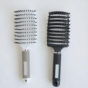 Nuovo setole spazzole per capelli pettine per le estensioni dei capelli anti-statica calore curvo sfiato barbiere salone strumento per lo styling dei capelli righe di plastica pettine