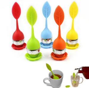 Gıda sınıfı ile Silikon Çay demlik çay poşeti filtre yaratıcı Paslanmaz Çelik Çay Pislik 5 renk yapmak