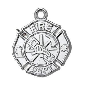 Envío gratis Nueva Moda Fácil de diy 10 unids bomberos del departamento de bomberos encanto para pulseras de la joyería que hace ajuste para el collar o pulsera