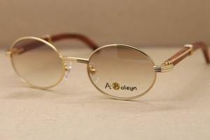 altın ahşap çerçeveler gözlük orijinal 2822546 Yuvarlak Metal Güneş güneş gözlüğü kadın açık havada sürüş C Dekorasyon altın çerçeve Boyutu: 53-22-135mm