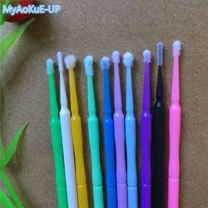 Eyelashes Makeup Tools 10 Colors 1000 Pieces  Lot Disposable Micro Brushes Individual Applicators Mascara For Eyelashe Extension