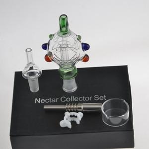 NC Cam Nektar Collectar İpuçları Titanyum ve Kuvars Tırnak ile Dabber Çanak 14mm Cam Boru NC 14mm Titanyum