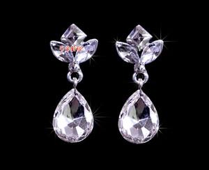 재고 2015 빈티지 모조 다이아몬드 웨딩 귀걸이 미니 크리스탈 신부 보석 세트 저렴한 웨딩 액세서리