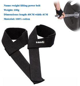 2 PCS / Par de Levantamento De Peso Mão Wrist Bar Suporte Cinta Brace Suporte Ginásio Tiras de Levantamento De Peso envoltório Body Building Aderência Luva