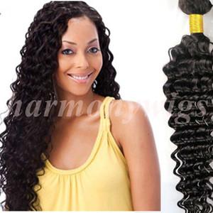 버진 헤어 번들 브라질 인간의 머리카락은 깊은 웨이브 곱슬 곱슬 8 ~ 34 인치 100 % 처리되지 않은 페루 인디언 말레이시아 벌크 헤어 익스텐션