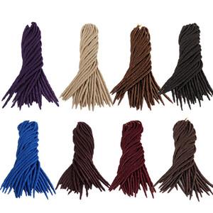 Diosa Loc Loc imitación sintética del trenzado del pelo de los dreadlocks Dreads sintéticos 18inch ganchillo trenzas peinados de cabello Kanekalon
