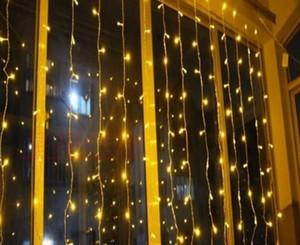 1600 أضواء led 10 * 5 متر أضواء الستار، أدى الإضاءة سلاسل فلاش الجنية مهرجان حزب ضوء عيد الميلاد ضوء الديكور AC110V-220V