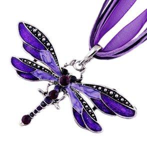 Anhänger Halsketten New Fashion Halsketten Retro Kristall Strass Mix Schmetterling Elefant Anhänger Statement Halsketten