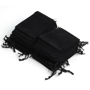 Envío de la gota 100Pcs 7x9cm Velvet Drawstring Pouch Bag / Jewelry Bag, Christmas / Wedding Birthday Easter Party Halloween Party Gift Bags Jewelry