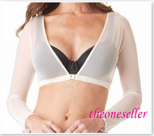 Amazing Arms Mesh Shirt Gauze Exposed Navel And Chest Buckle Short Paragraph Long-Sleeved T-shirt Free Shipping