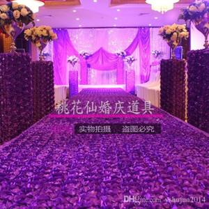 1.4 m de largura tapete de casamento romântico 3D Rose Petal Carpet corredor corredor para o casamento pano de fundo Centerpieces Favors Party Decoration Supplies