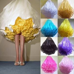 Esponjoso acanalada Enaguas Mini Longitud corta por encargo riza el tul de colores de la enagua de 1950 Style 2015 tutú Faldas Vestidos Para enagua